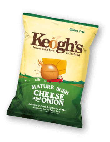 Mature Irish Cheese and Onion Crisps | Keogh's Crisps | Irish Crisps